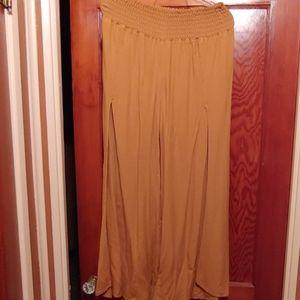 Pleated Flowy Boho Pants